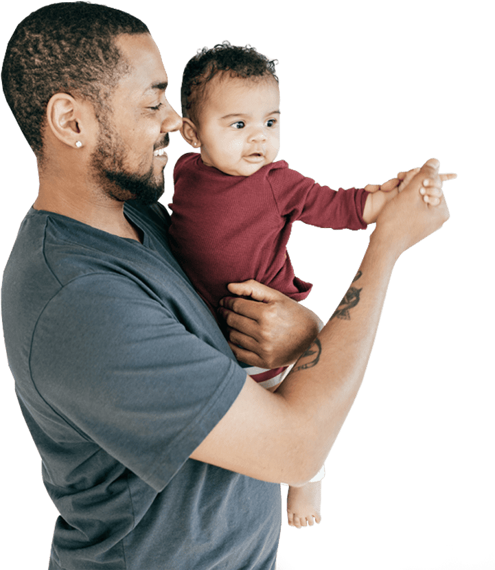 Guy with son